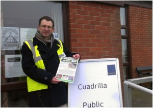 Barry Warner, from Roseacre Awareness Group, at Cuadrilla's event at Elswick Village Hall